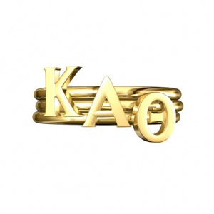 Greek Letter Stack Rings - Kappa Alpha Theta