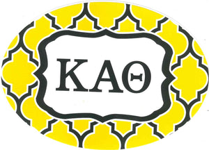 Oval Quatrefoil Decal - Kappa Alpha Theta