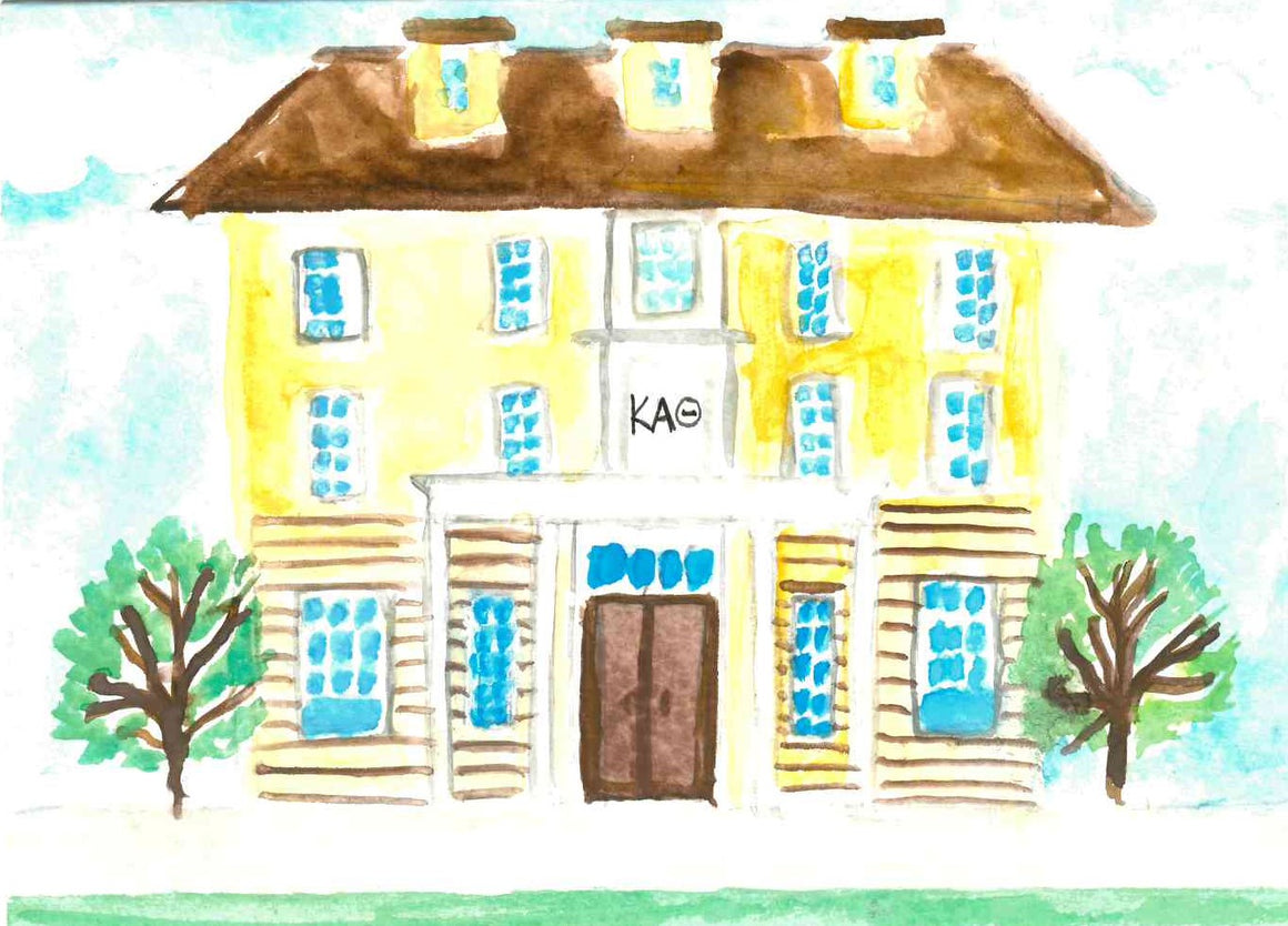 Sorority House Notecards - Kappa Alpha Theta