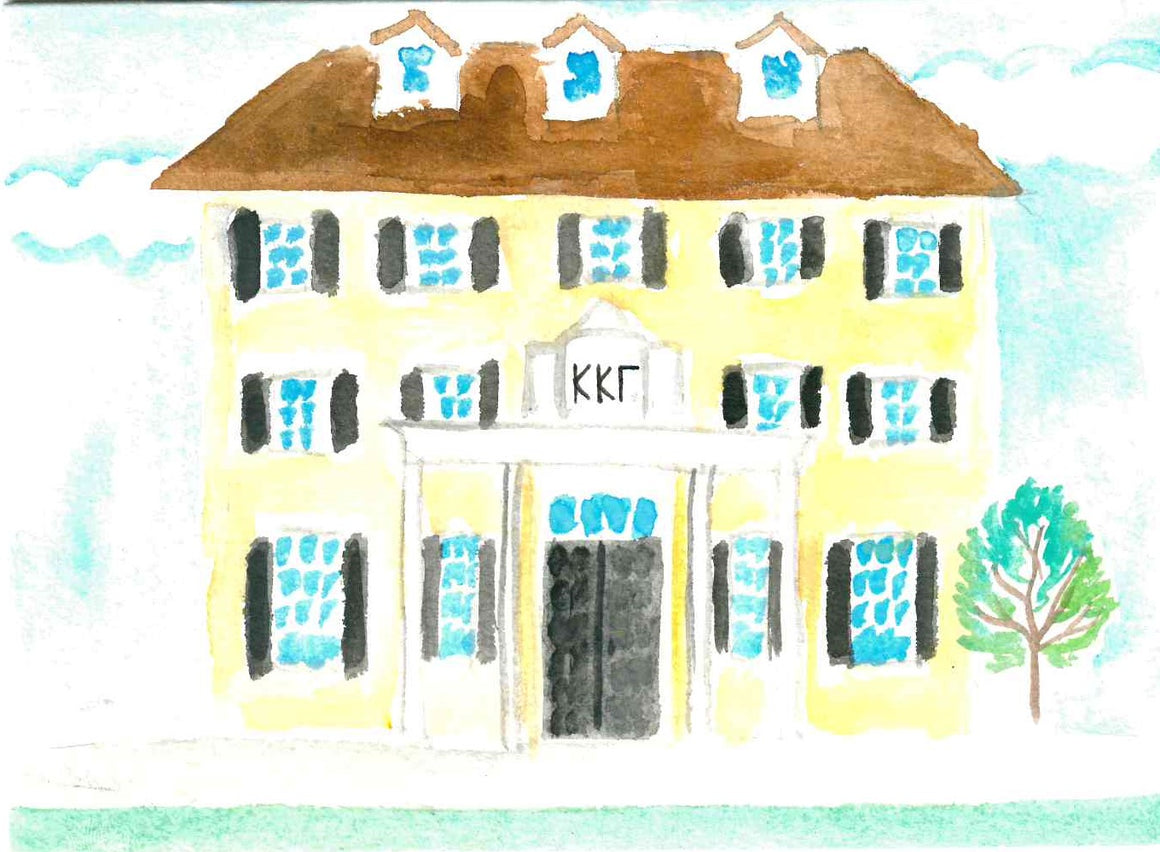 Sorority House Notecards - Kappa Kappa Gamma