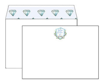 Lined Envelope Notecards - Alpha Delta Pi