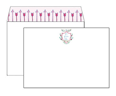 Lined Envelope Notecards - Pi Beta Phi