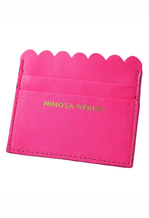 Mimosa Money Scalloped Card Holder
