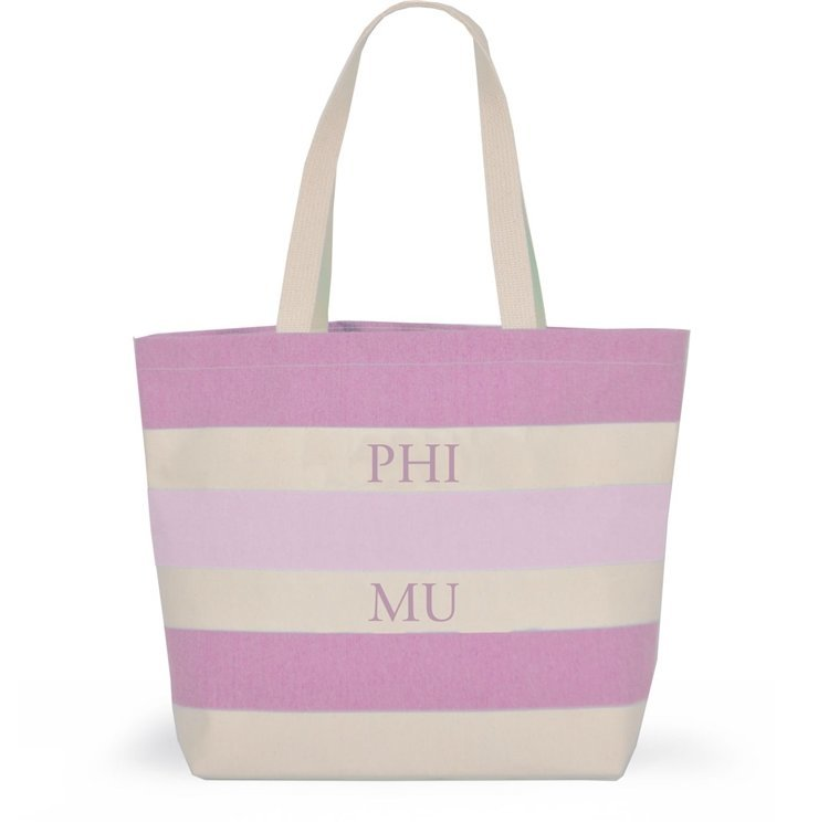 Striped Sorority Tote - Phi Mu
