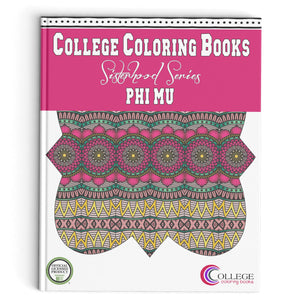 Adult Coloring Book - Phi Mu