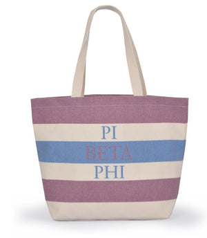 Striped Sorority Tote - Pi Beta Phi