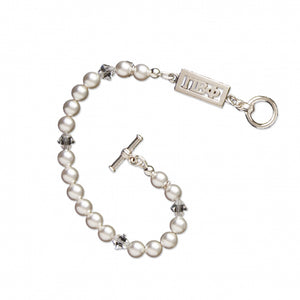 Swarovski White Pearl and Crystal Bracelet - Pi Beta Phi