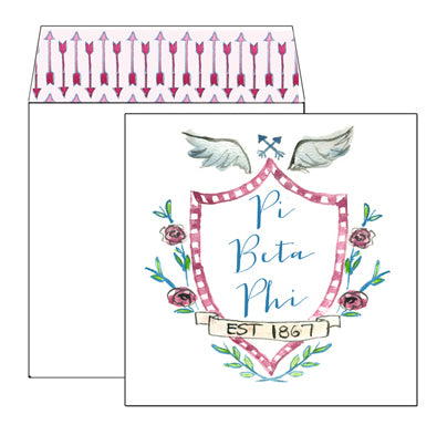 Sorority Greeting Card - Pi Beta Phi