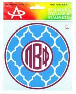 Quatrefoil Monogram Decal - Pi Beta Phi