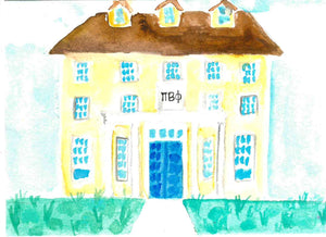 Sorority House Notecards - Pi Beta Phi