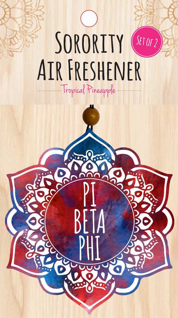 Mandala Air Freshener - Pi Beta Phi