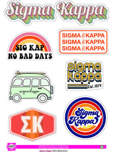Retro Sticker Sheet - Sigma Kappa