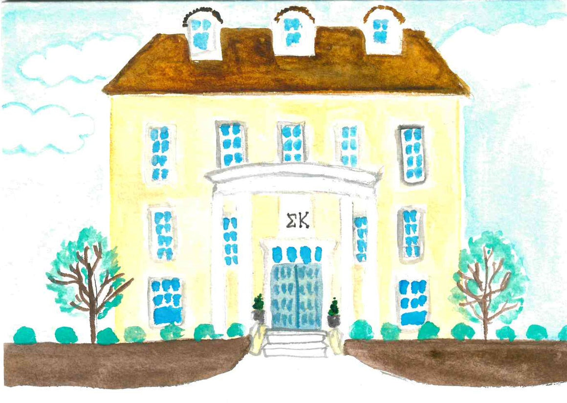 Sorority House Notecards - Sigma Kappa