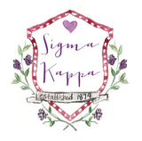Crest Decal - Sigma Kappa