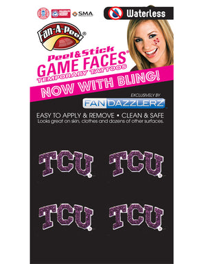TCU Logo Glitter Temporary Tattoos
