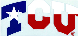 TCU Large Texas Flag Car Decal