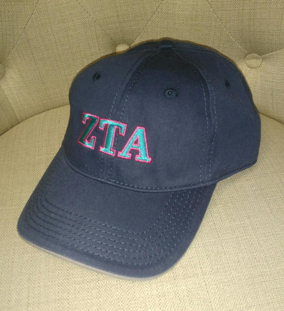 Navy Embroidered Cap - Zeta Tau Alpha
