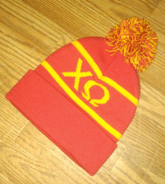 Knit Sor. Colors Beanie - Chi Omega