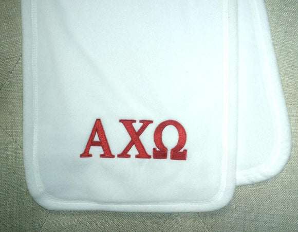 Embroidered Fleece Scarf - Alpha Chi Omega
