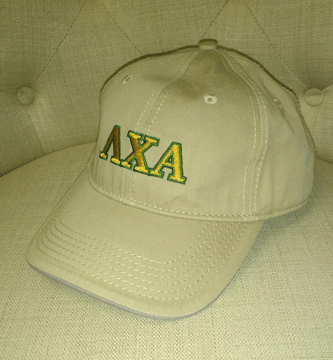 Khaki Embroidered Cap - Lambda Chi Alpha