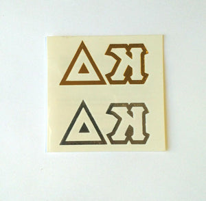 Metallic letter Tattoos - Kappa Delta