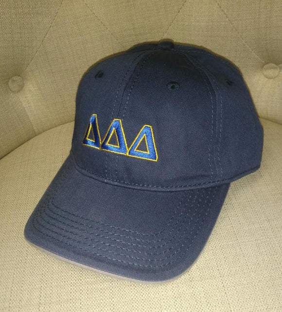 Navy Embroidered Cap - Delta Delta Delta
