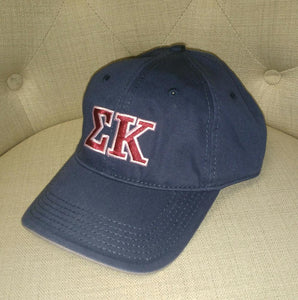 Navy Embroidered Cap - Sigma Kappa