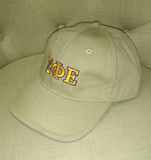 Khaki Embroidered Cap - Sigma Phi Epsilon