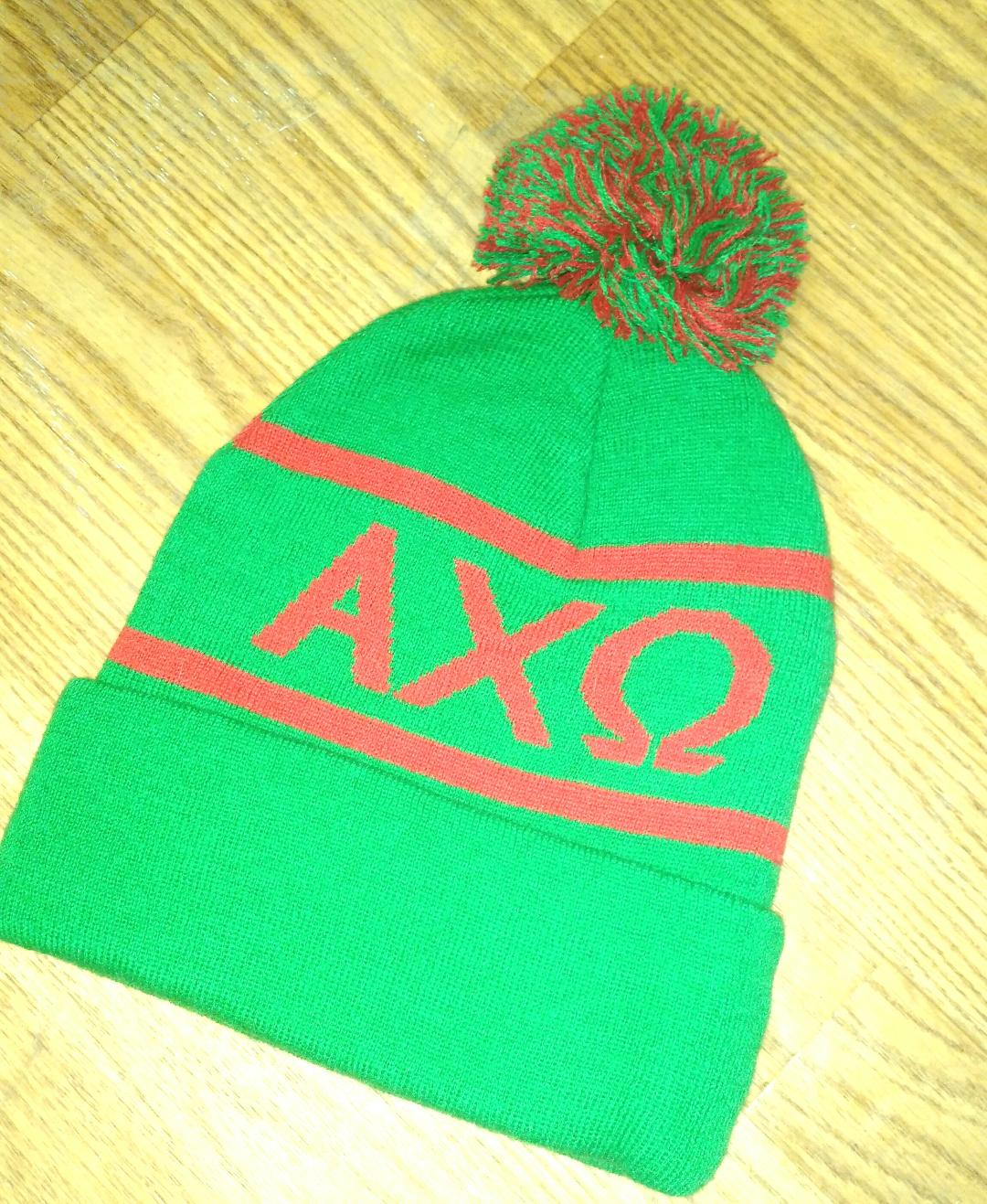 Knit Sor. Colors Beanie - Alpha Chi Omega