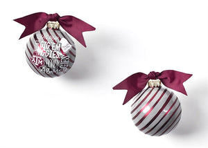 Coton Colors Striped Ornament - Texas A&M