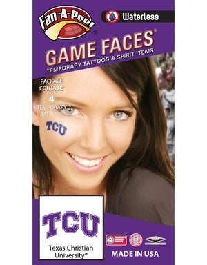 TCU Logo Temporary Tattoos
