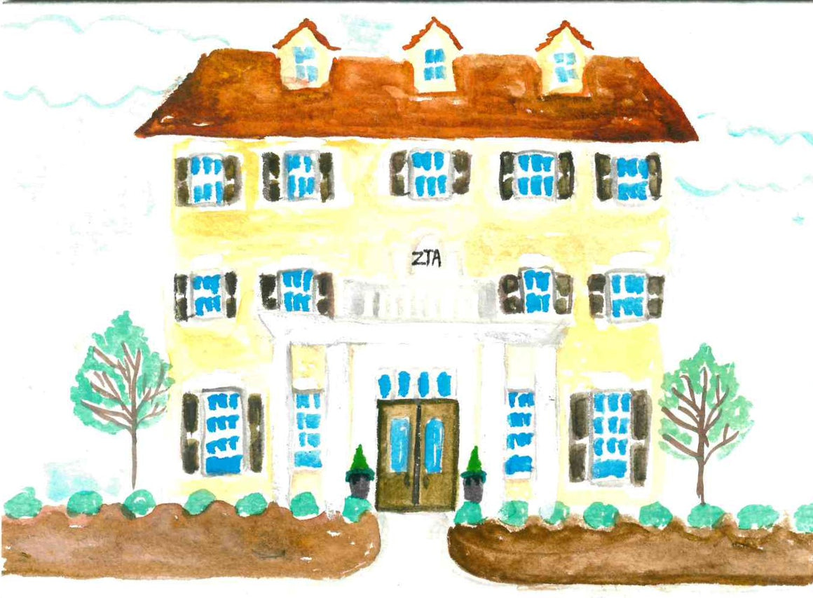 Sorority House Notecards - Zeta Tau Alpha