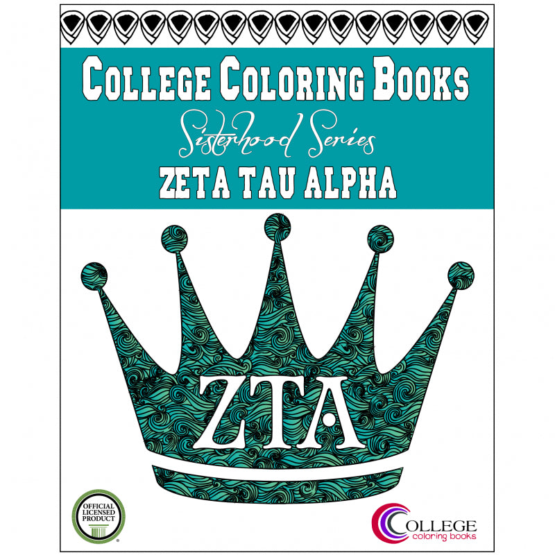 Adult Coloring Book - Zeta Tau Alpha