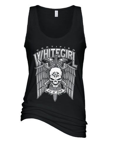 CERTIFIED WHITEGIRL EAGLE LADIES TANK