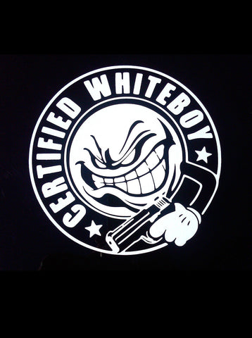"12"" x 12"" ANGRY WHITEBOY LOGO"