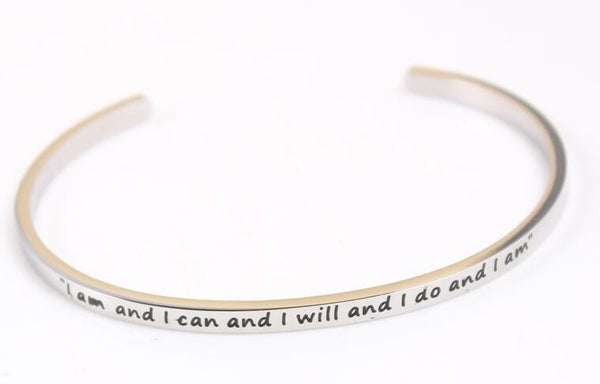 I am and I can and I will and I do Bracelet