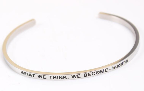 What we think, we become - Buddha Bracelet