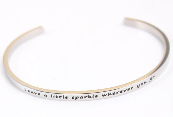 Leave a little sparkle everywhere you go bracelet