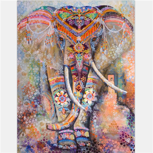 Elephant Mandala Tapestry - Multicolored