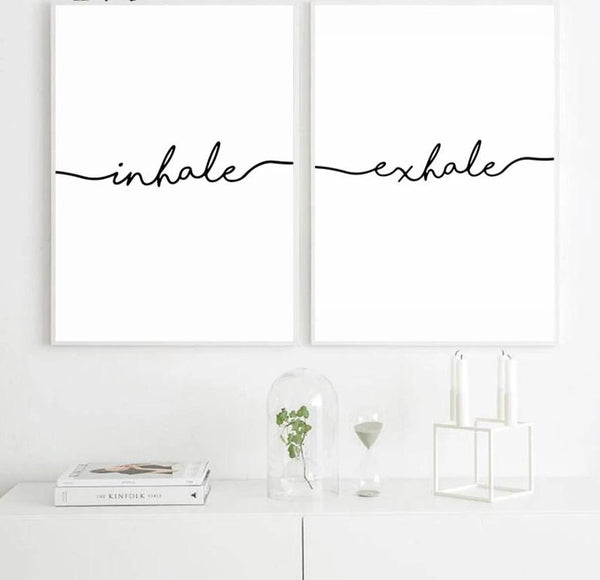 Inhale Exhale Canvas Poster (Set of 2)