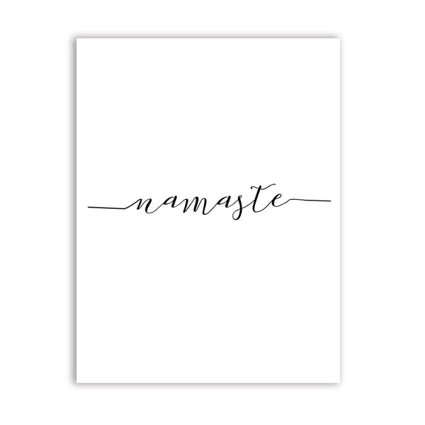 Be Present / Namaste / Breathe / Be Mindful Canvas Posters