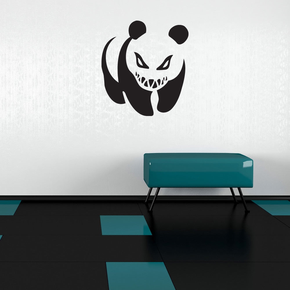 crazy panda banksy wall decal banksyshop crazy panda banksy wall decal image