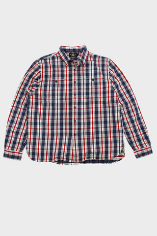 rrl ralph lauren Plaid Twill Workshirt - Blue/Red