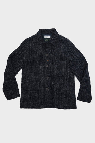 universal works Bakers Jacket - Navy Alpino Plaid