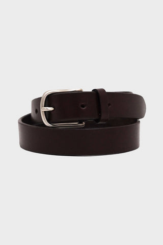 laperruque Belt - Ebony Leather and Nickel Buckle
