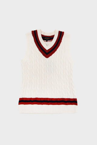 beams plus Cricket Vest - White