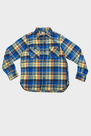 Twill Check Work Shirt - Blue 125