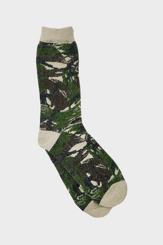 anonymous ism Go Hemp British Camo Crew socks - Natural