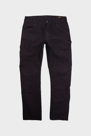 orslow Slim Fit Painter Pants - Black Reverse Cotton Sateen