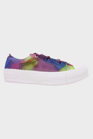 needles clothing japan Asymmetric Ghillie Sneaker - Overdye Purple/Green/Blue